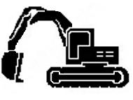 icona escavatore per movimento terra - www.bmscostruzioni.it
